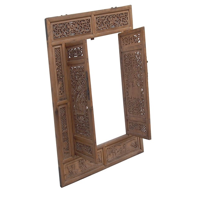 Vintage Carved Wood Asian Wall Panel/Screen - Image 6 of 6