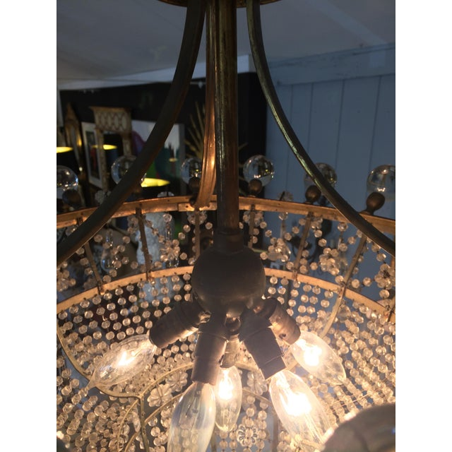 Gold French 3 Tier Crystal Chandelier For Sale - Image 8 of 13