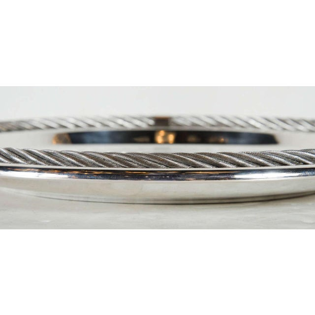 1970s Stunning Mid-Century Modernist Tray in Silver-Plate by Christian Dior For Sale - Image 5 of 6