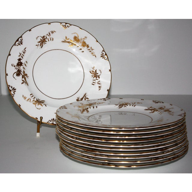 """Mid 20th Century Royal Crown Derby """"Marquis"""" Pattern Dinnerware - Set of 76 For Sale - Image 5 of 11"""