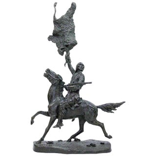 """""""Buffalo Signal"""", After Frederic Remington For Sale"""