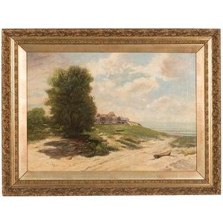19th-Century Sea Shore Landscape For Sale