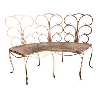 Midcentury French Garden Bench For Sale