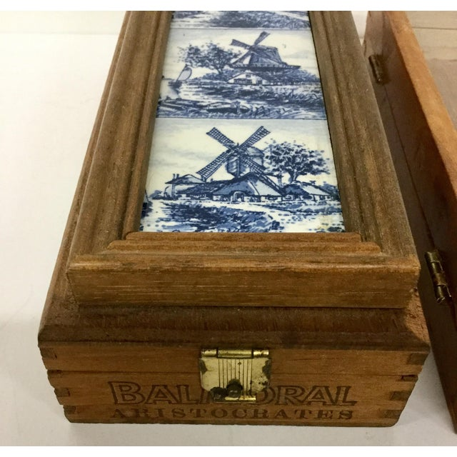 These are so cool. We love the hand painted delftware tile on the first box. The hinge is made in Germany. Not sure where...