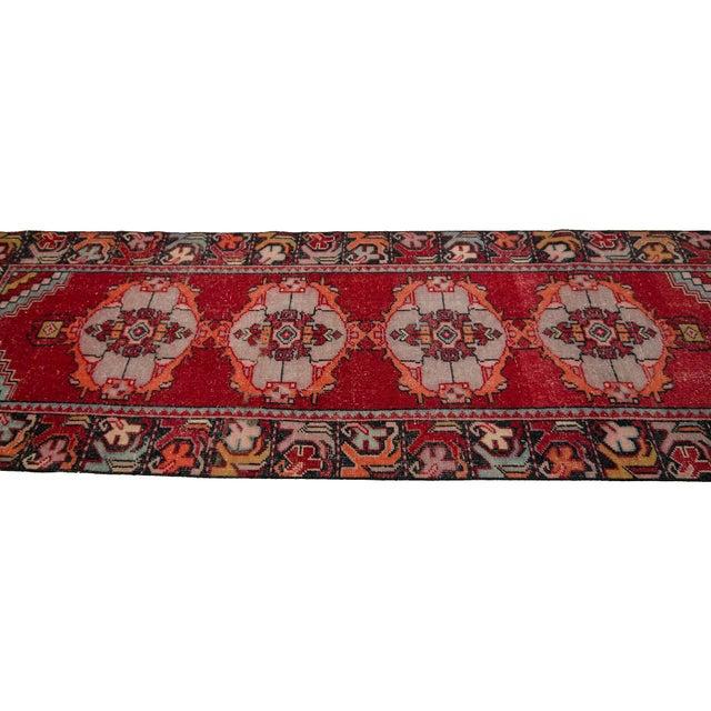 Vintage Red Turkish Runner-2′10″ × 9′5″ For Sale - Image 4 of 7