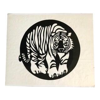 Vintage Black/White Tiger Cut Out Art