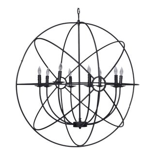 Industrial Black Orb Chandelier
