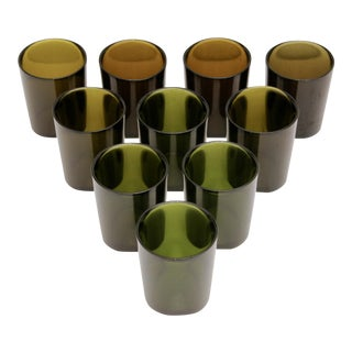 Ombre Olive Green Cocktail Glasses - Set of 10