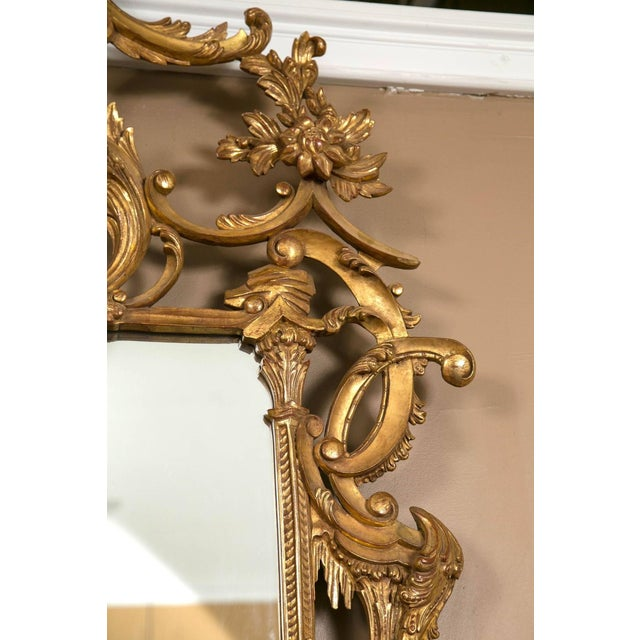 Italian Gilt Chinese Chippendale Mirrors - Pair - Image 5 of 7