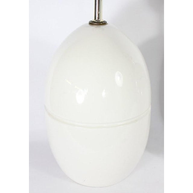 1970s Modern Ceramic Egg Lamps - A Pair - Image 4 of 5