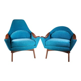 Mid Century Modern Adrian Pearsall His and Hers Lounge Chairs - a Pair