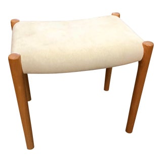 Jl Moller Danish Modern Upholstered Stool / Ottoman For Sale