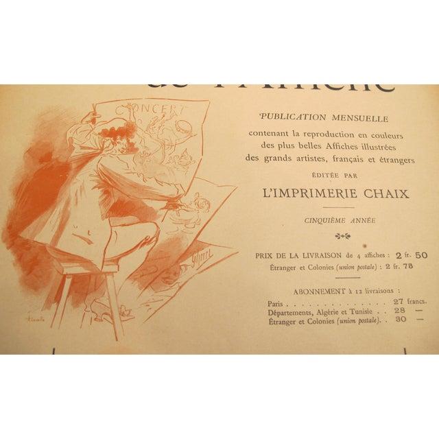 Art Nouveau 1890s French Art Nouveau Maitres De l'Affiche Poster, Price List \ Cover by Jules Cheret For Sale - Image 3 of 4