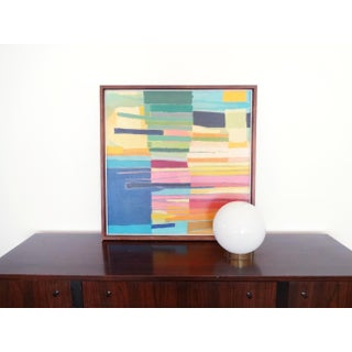 1970s Mid-Century Modern Glass Orb Lamp Preview