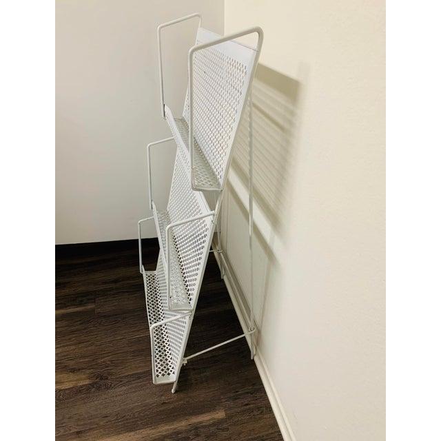 Frederick Weinberg 1950s Folding Iron Magazine Book Stand Display Rack Shelf For Sale - Image 4 of 13