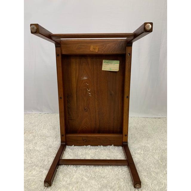 Mid-Century Danish Modern Walnut End Tables by Gunlocke For Sale In Charlotte - Image 6 of 11