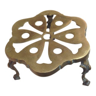 1920s Brass Trivet For Sale
