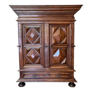 19th Century French Louis XIII Walnut Armoire For Sale