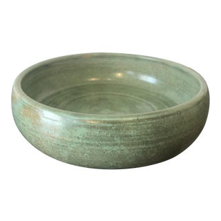 Shearwater Pottery Matte Green Shallow Dish