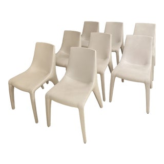 Bonaldo Leather Chairs - Set of 8 For Sale