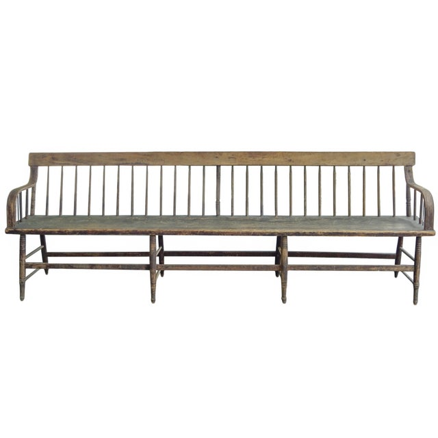 Americana Deacons Bench For Sale - Image 3 of 11
