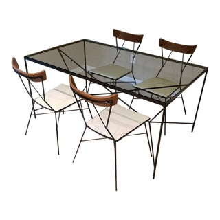 1950s Mid-Century Modern Paul McCobb for Arbuck Group 76 Chairs & Cats Cradle Dining Set - 5 Pieces For Sale