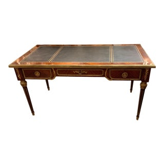 French Empire Style Rosewood and Gilt Bronze Mounted Desk For Sale