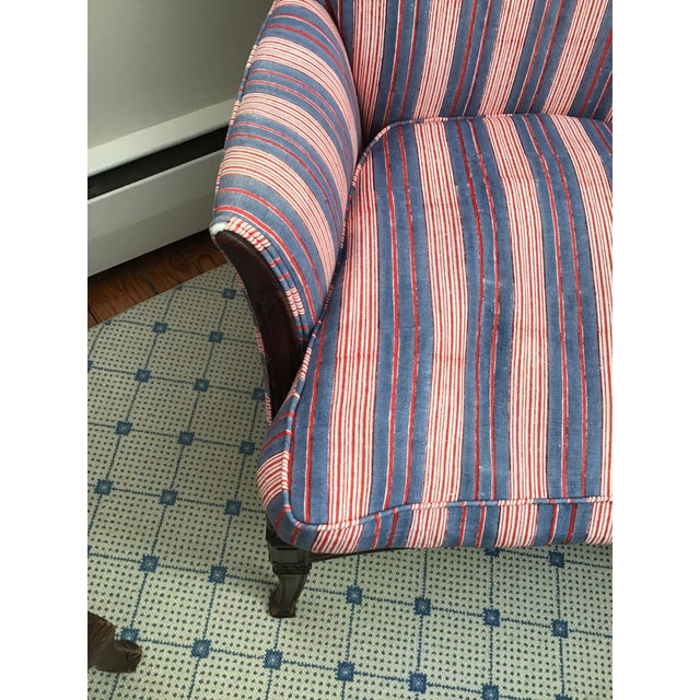 Fabric Antique Chairs With John Robshaw Vintage Stripe Cora Fabric - a Pair For Sale - Image 7 of 13