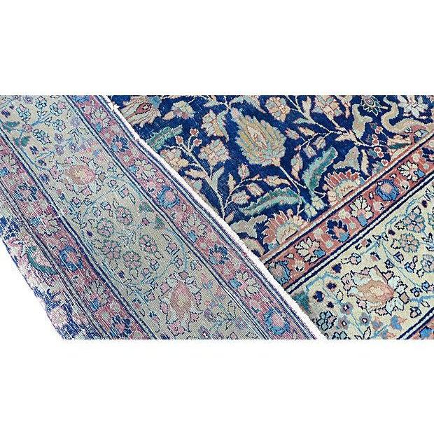 "1920s Antique Persian ""Tabriz"" Handmade Rug - 9′ × 12′ For Sale - Image 5 of 8"