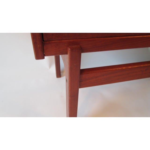 1960s Danish Modern Drop Front Desk For Sale - Image 11 of 13