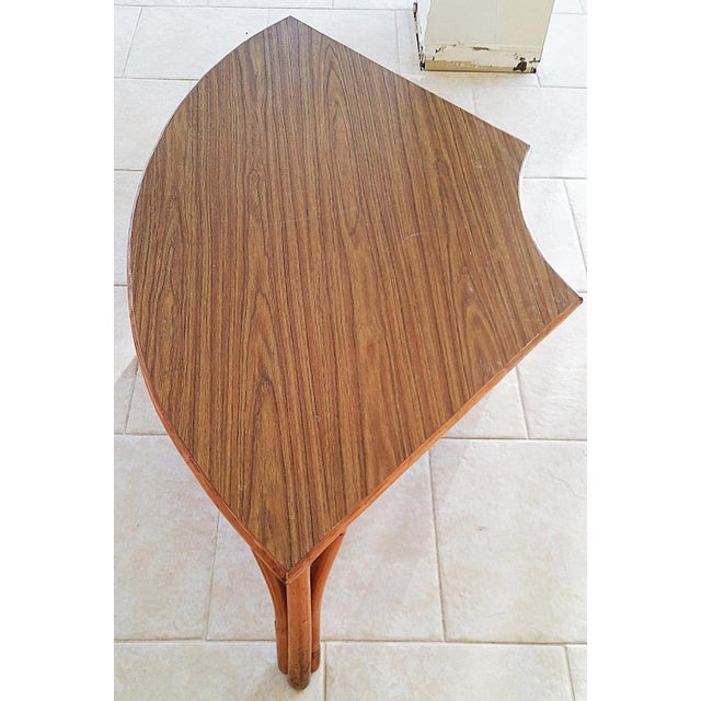 Brown Midcentury Rattan Bamboo Coffee Table For Sale - Image 8 of 8