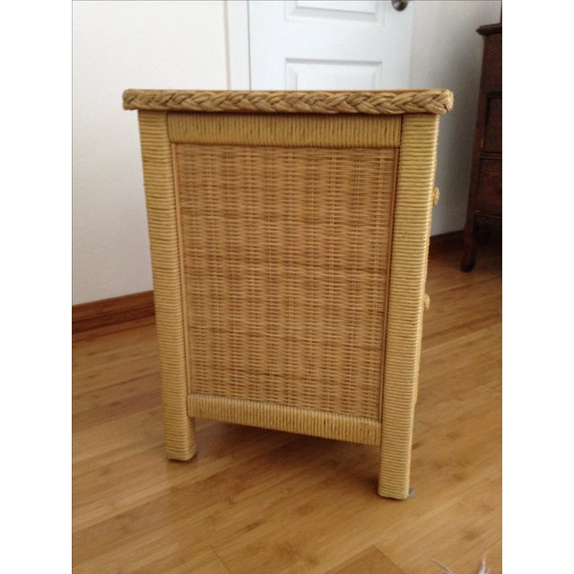 Vintage Wicker Henry Link Nightstand - Image 3 of 8