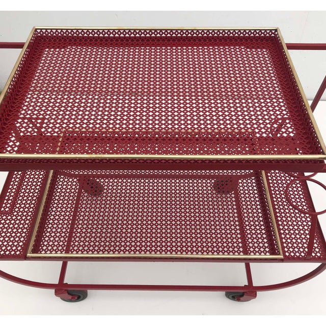 1950s Mathieu Mategot & Jean Royere Bar Cart For Sale - Image 5 of 6