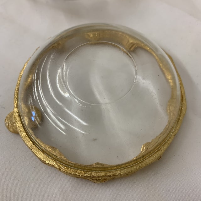 1960s Hollywood Regency Gold Faux Bamboo Ashtrays For Sale - Image 5 of 7