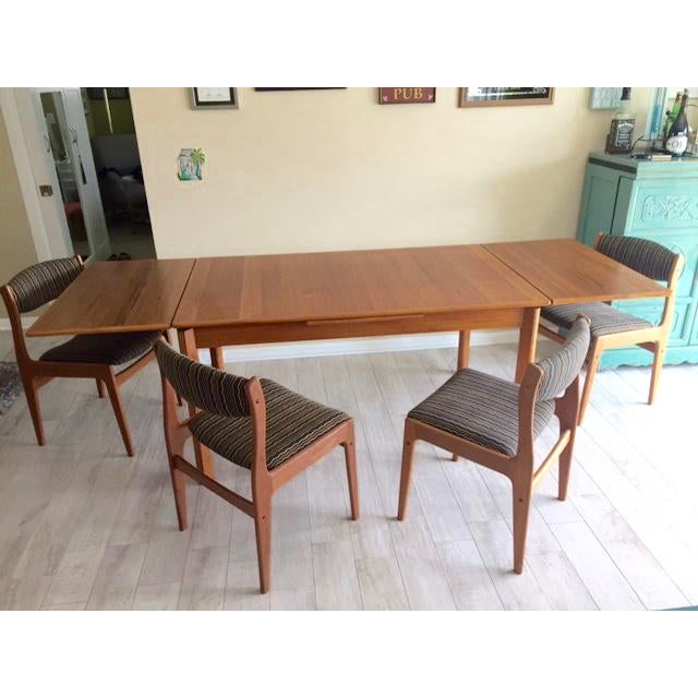 Danish Teak Dining Room Table Set - Image 2 of 9