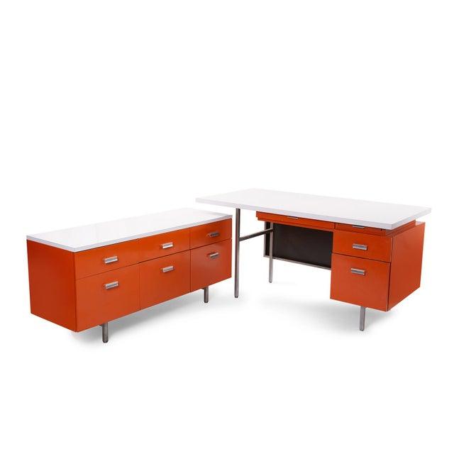 George Nelson Herman Miller Modern Management Desk & Return - 2 Pc. Set For Sale - Image 9 of 9