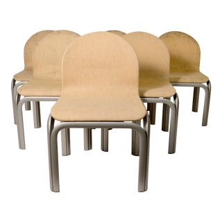 1970s Mid-Century Modern Gae Aulenti for Knoll Dining Chairs - Set of 6 For Sale