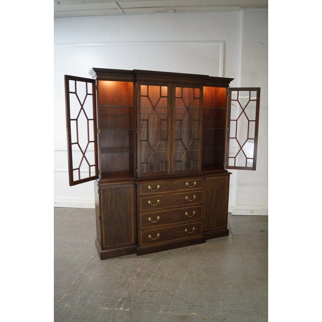 Mahogany Henkel Harris Mahogany Chippendale Style London Breakfront For Sale - Image 7 of 10