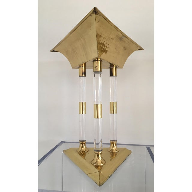 Italian Brass and Lucite Table Top Objets - a Pair For Sale - Image 12 of 13