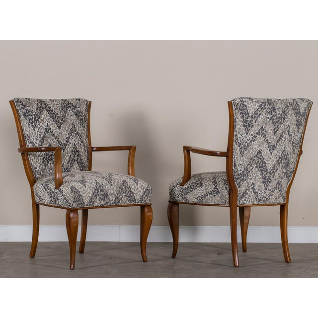 Art Deco 1940s Vintage French Art Deco Beechwood Chairs - a Pair For Sale - Image 3 of 11