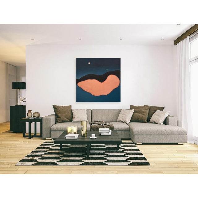 """""""Night"""" Large Contemporary Abstract Painting by Stephen Remick For Sale - Image 9 of 10"""