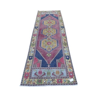 1970s Vintage Turkish Wool Runner Rug - 3′3″ × 9′6″ For Sale