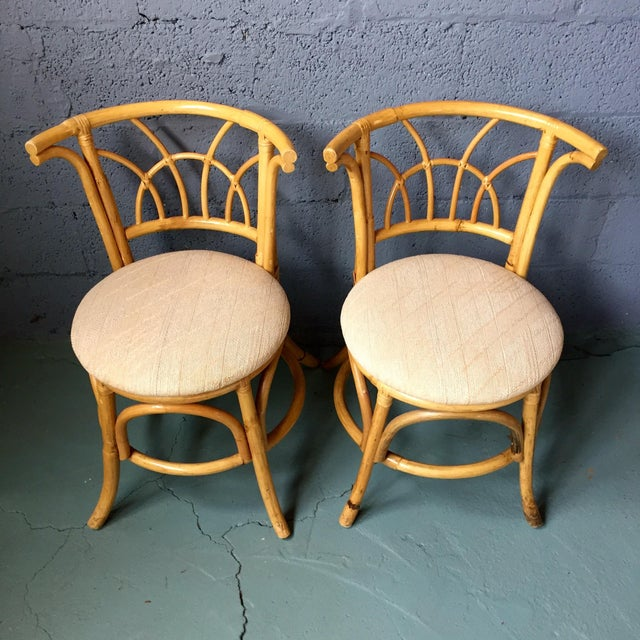 Vintage 1980s Bamboo Dining Set For Sale - Image 7 of 11