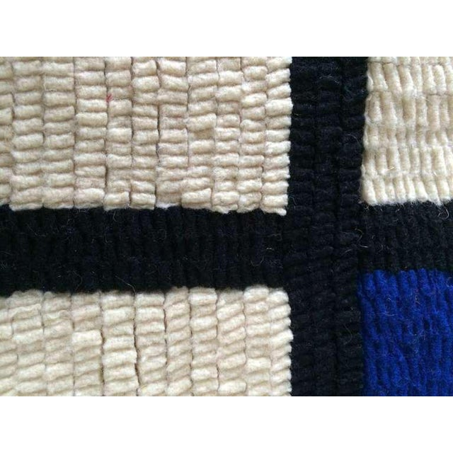 """Mid-Century Modern Louis H.Guidetti Mondrian Hand-Hooked Rug - 3' x 4'6"""" For Sale - Image 3 of 7"""