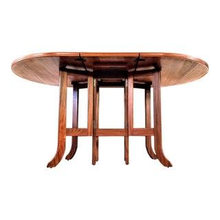 Danish Modern Style Nathan Teak Parker Knoll Drop-Leaf Gate-Leg Occasional Dining Table For Sale