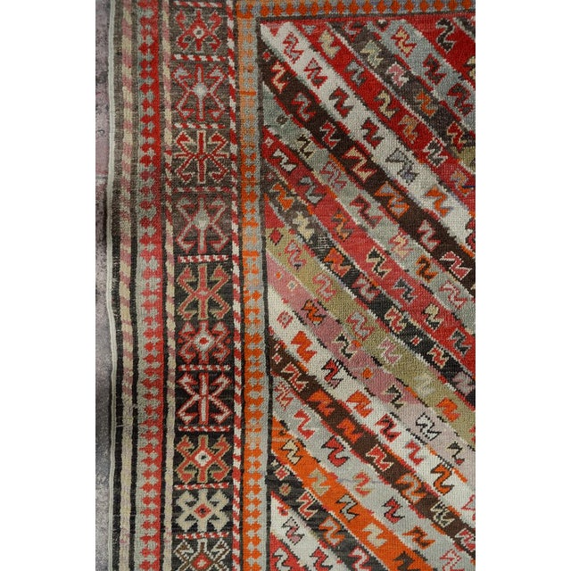 Red Antique Kurdistan Hand Made Tribal Rug - 4' X 7' For Sale - Image 8 of 10