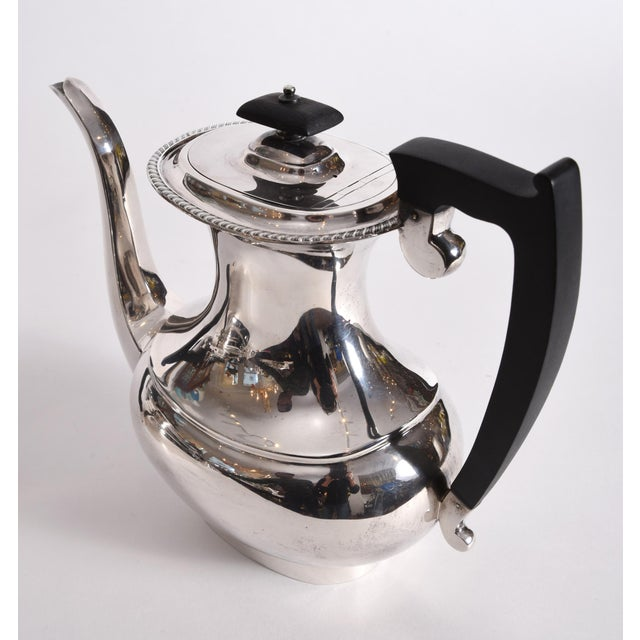 Black Vintage English Sheffield Sterling Silver Tea / Coffee Service - 5 Pc. Set For Sale - Image 8 of 13