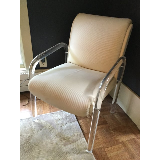 Leo Rosen for Pace Lucite Arm Chair - Image 3 of 9