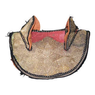 Collector Moroccan Ceremonial Gold Horse Saddle Cover For Sale