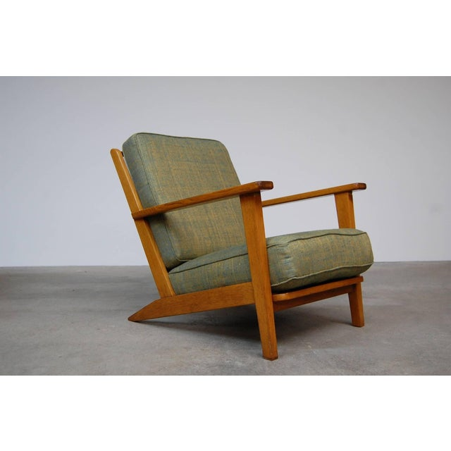 Modernist Lounge Chairs From France- a Pair For Sale - Image 4 of 9